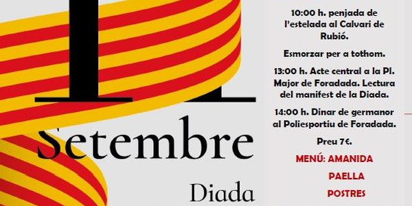 Celebració Diada Nacional de Catalunya 2019
