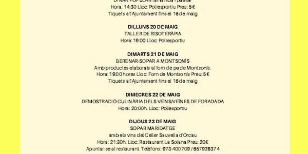 SETMANA CULTURAL DE FORADADA 2019